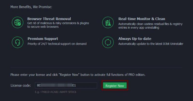 IObit Uninstaller 6 免费版如何升级PRO版?